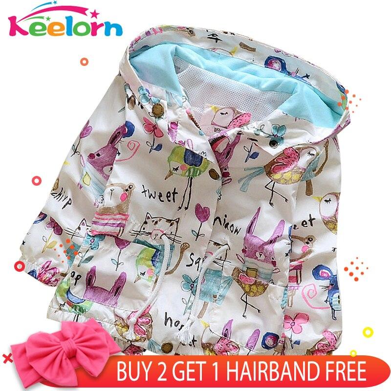 Keelorn Fashion Baby Girls Coats 2018 Autumn Baby Jacket Hooded Graffiti Printing Baby Outerwear&Coats Newborn Jacket Coats недорого