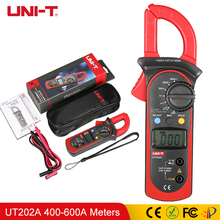 UNI-T UT202A Digital Current Clamp Meters 400-600A AC/DC Voltmeter AC Current Meter Resistance Tester NCV Multimeters update clamp meters em2015c full protection clip on multimeter 600a ac