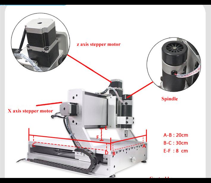 4-teljelise puidu lõikamiseks USB Port mini 3020 cnc - Puidutöötlemisseadmed - Foto 2