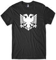 Албанский Флаг Албании 2 двух голового орла мужские Смешные Мужская футболка