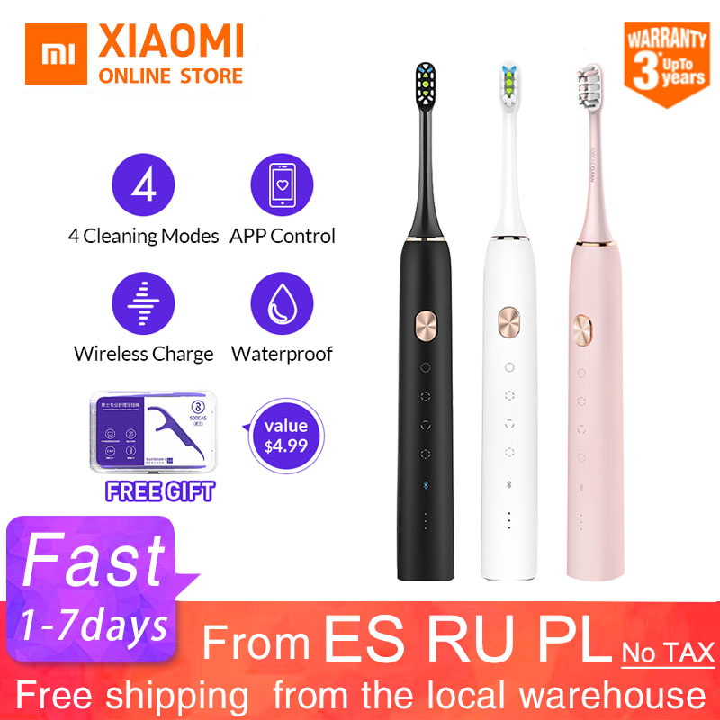 Xiaomi Mijia Toothbrush Soocare X3 X3s Soocas Upgraded Electric Sonic Smart Bluetooth Waterproof Wireless Charge Mi Home APP