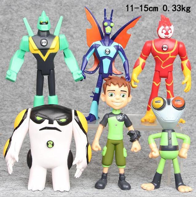 6 шт./лот мультфильм Ben 10 ПВХ фигура набор игрушек ben10 игрушки Фигурки