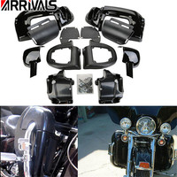 Motorcycle Black Lower Vented Leg Fairing Glove Box For Harley Davidson Touring HD Road King Tour