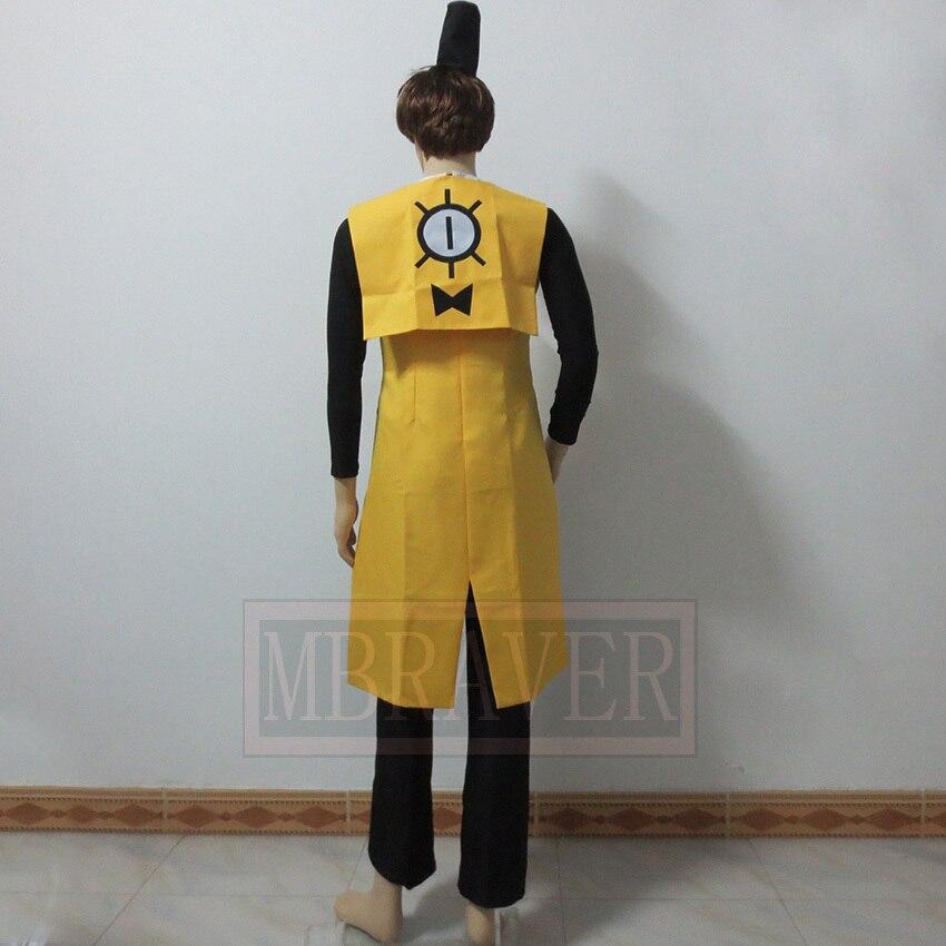 Gravité tombe Bill Ciphe fête de noël Halloween uniforme tenue Costume Cosplay personnaliser n'importe quelle taille - 6