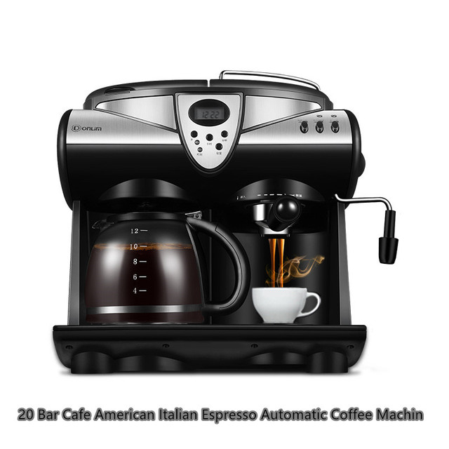 20 Bar Cafe American Italian Espresso Automatic Coffee Machine Household Commercial High Pressure Steam Milk Bubble