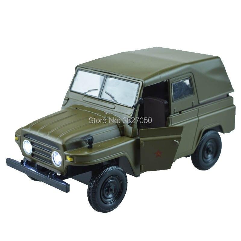 วินเทจ1:24 835Aโลหะผสมกองทัพสีเขียวของเล่นรถบรรทุกรถยนต์ทรงจำวัยเด็กแปลงทหารเหล็กรถของเล่นส...