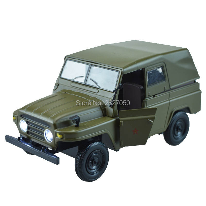 Vintage 1:24 835A Alloy Army Green toy Truck cars Childhood Memories Convertible Military Iron car toys for Kids gift Decoration