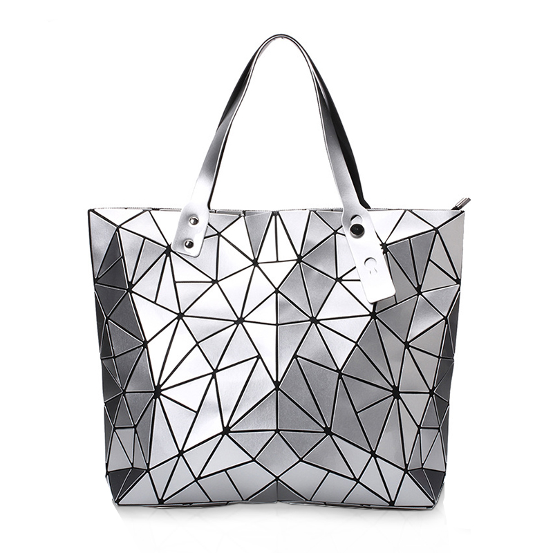 Now women Bao bao Bag baobao Geometry Package Sequins Mirror Saser Plain Folding Handbags Bags
