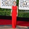 Mejor vestido rojos Jennifer Lawrence lacio largo vestidos At 73rd Annual Golden Globe Awards 2016 Sexy Rhinestone vestido de la celebridad