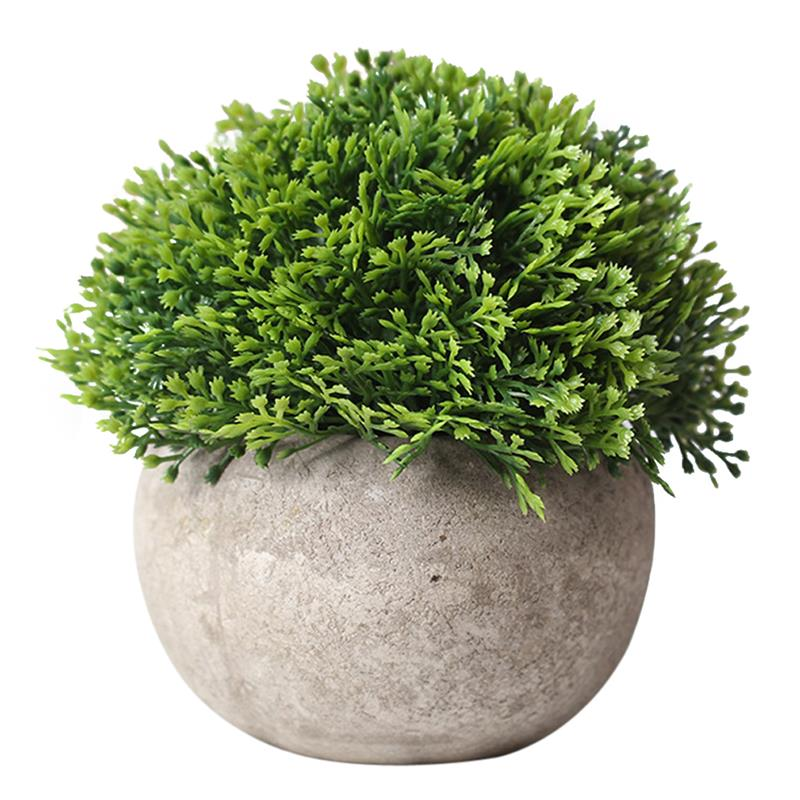 New Arrival Artificial Plant Vintage Plastic Potted Green Fake Plant Decor Plant Artificial Planters Indoor