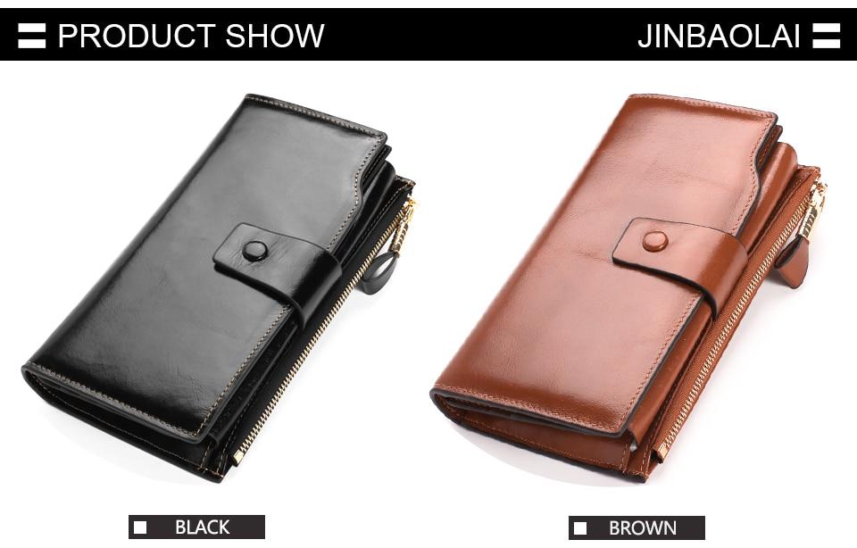 ᐊJINBAOLAI Fashion Women Wallets Design High Quality Genuine ... d507f161c6a