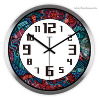 Abstract Large Decorative Art Wall Clocks Kitchen Klokkens Parede Beautiful Hanging White Designed Wall Clock Home Decor DDN322
