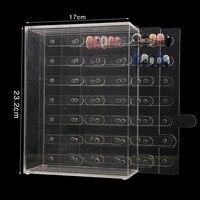 False Nail Transparent Display box , 210pcs 3 layer Glitter nail tools display board Magnetic adsorption nail polish show shelf