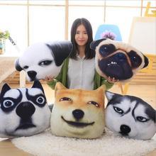 цена на Big Size Simulation Dog Doll Plush Toy Dog Pillow / Cushion Stuffed Animal Soft Toy