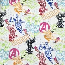 Good 140cm Wide Cartoon Avengers Cotton Fabric  Alliance Print DIY Patchwork Sewing Children Clothing