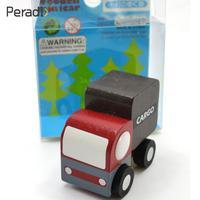 Peradix Wooden Car Toy Mini Car Set 12pcs Wood Educational Developmental Intellectual Ornaments