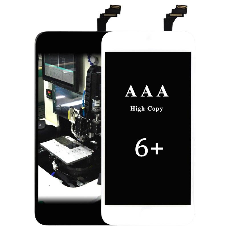 10 piezas mejor China AAA para iphone 6 plus pantalla LCD con ensamblaje de pantalla digitalizador para iphone 6 plus accesorios de pantalla