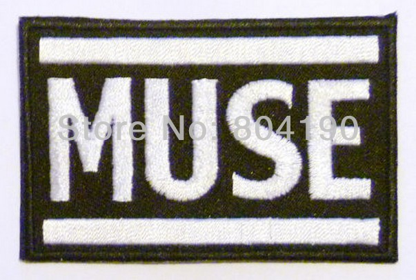 Muse الموسيقى الفرقة الحديد على/خياطة على التصحيح التي شيرت نقل عزر زين روك الشرير شارة الجملة الحرة الشحن-في لصقات طبية من المنزل والحديقة على  مجموعة 1