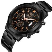 Fashion Men Quartz Watch Sport Military Stainless Steel Watches Dial Luxury  Business Wrist Watch Wristwatch Thanksgiving Gift цена