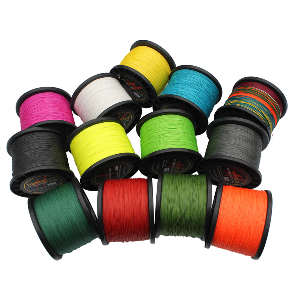 Hercules PE Braided Fishing Line tresse peche 250LB 1000M 8 Strands Saltwater Fishing materiel de peche 13 Colors ip misina статуэтка звезда в стекле a04gbr 904835