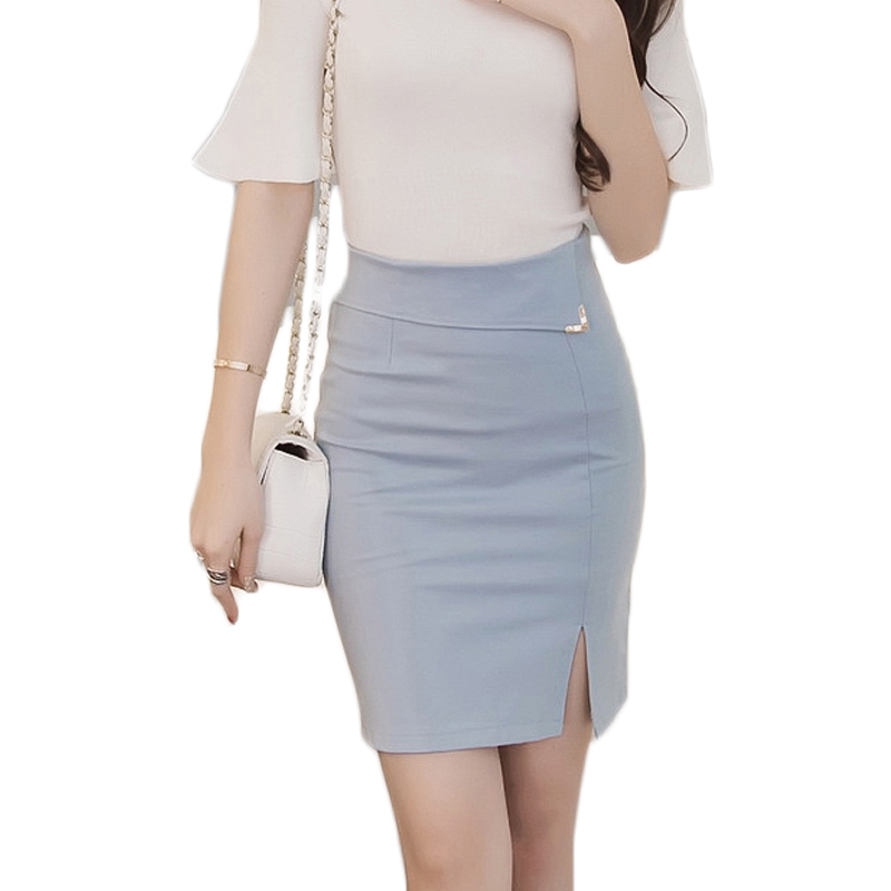 Autumn 5xl Plus Size Slim Office Skirt Women Y Elastic High Waist Pencil Step Formal Saias Skirts 8085 In From S Clothing