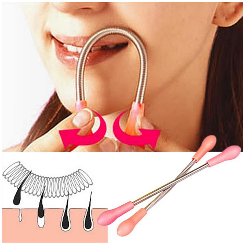 1pcs Face Facial Hair Remover Epilator Woman Epilator Manual Face Hair Remover Cleaning Beauty Tool Makeup Tools Random Color