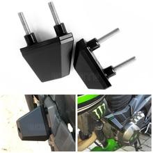 1 pair black CNC Aluminum Motorcycle Frame Sliders Guard Crash Protector for Kawasaki Z1000 2007 2008 2009 z800 z750 accessories