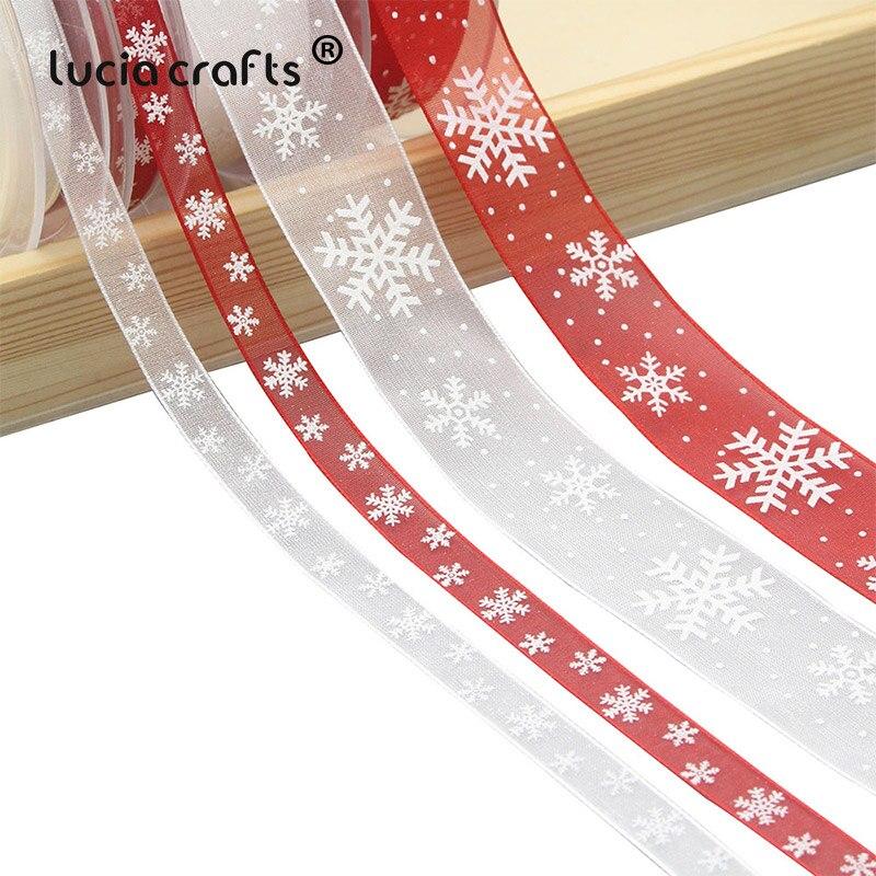 5 ярдов 10 мм/25 мм белый, красная лента-веревка из органзы Лента DIY Bownot подарочная упаковка вечерние рождественские ленты украшения P0303