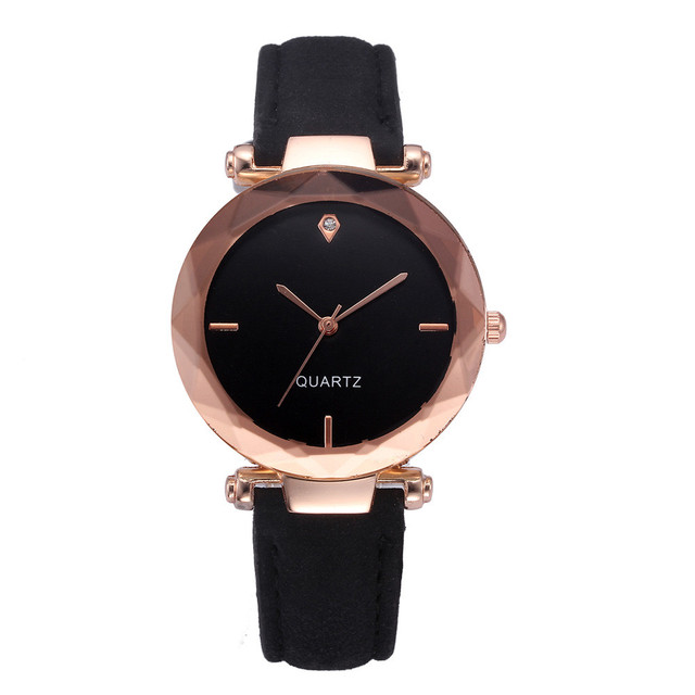 Korean fashion simple retro small Leather belt Woman watch students watches fres