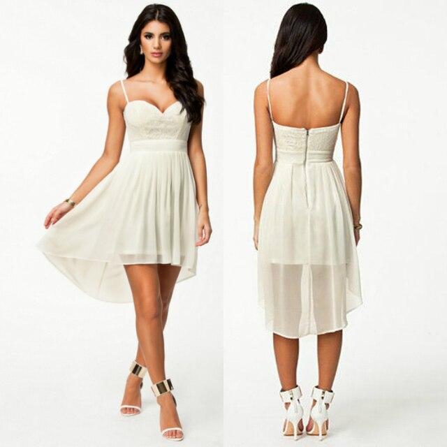 6ef2d66b70052 2017 White Goddess Women Casual Summer Sexy Modal Dress Mini Bodycon  Dresses Sleveless Lace Bustier Chiffon Dress White
