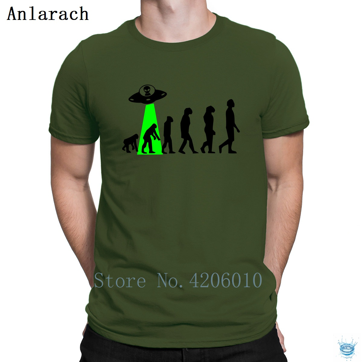 Human Evolution Timeline By Aliens T-Shirts Cheap Popular Designs Tshirt For Men 100% Cotton Solid Color 2018 Anlarach Branded