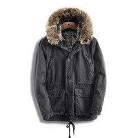 Titotato 2018 зима зимняя куртка Для мужчин пальто Для мужчин парк хлопок ArmyGreen ветровки с капюшоном плюс бархат Размер дополняется длинный отрез