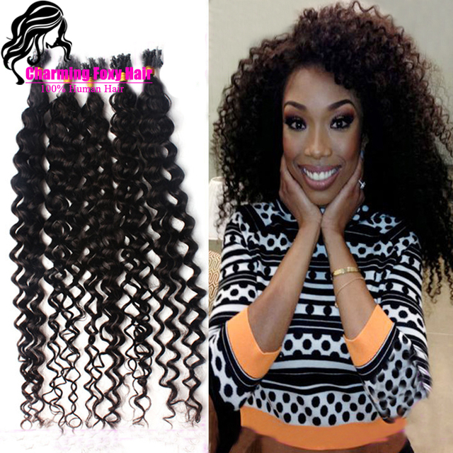 Brazilian Curly Micro Ring Hair Extensions Remy Indian Hair