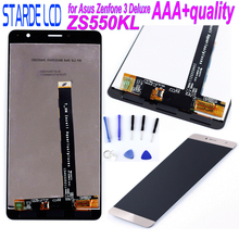 STARDE LCD for Asus ZenFone 3 Deluxe ZS550KL Z01FD Display Touch Screen Digitizer Assembly Gold  Replacement Parts with Tool