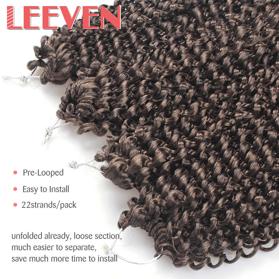 Leeven 18inch Passion Twist Crochet Hair Ombre BlackCrotchet Braiding Hair Extension Synthetic Flat Twist Pre-Looped Fluffy Hair
