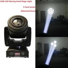 2017 neueste 60 Watt LED Moving Head Licht DMX DJ Disco Party hochzeit Bühne Wirkung Beleuchtung 60 Watt Weiß LED Spot Moving Head Lichter