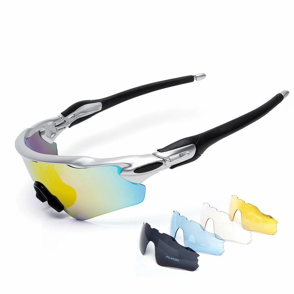 Prix pour Cuzaekii 5 Lentilles Polarisées Vélo Lunettes Hommes Femmes UV400 lunettes de Soleil VTT Vélo Cycle Sports de Plein Air Coupe-Vent Lunettes <JH-072>