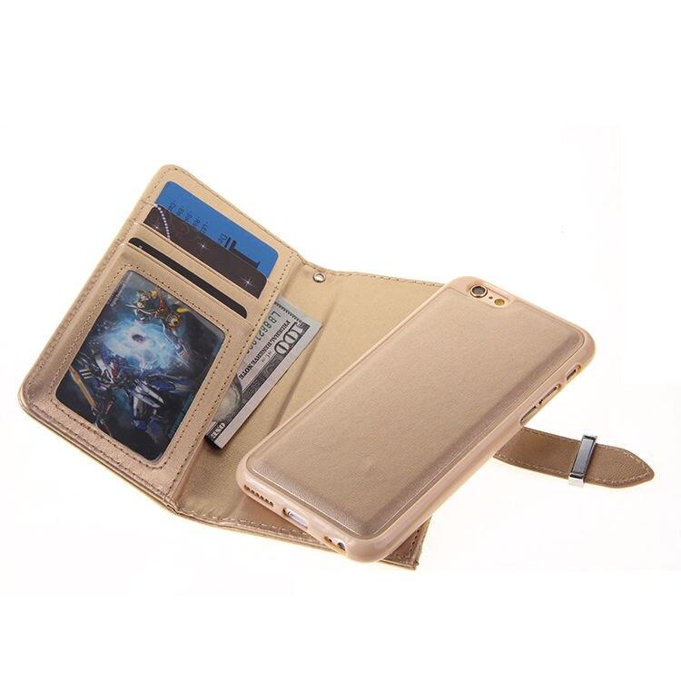 XINGDUO Magnet blixtlås läder plånbok avtagbar - Reservdelar och tillbehör för mobiltelefoner - Foto 5