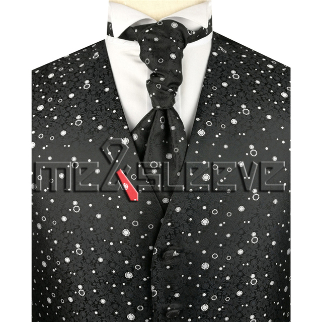 New arrival free shipping Mens Suit Tuxedo Dress Vest (vest+ascot tie+handkerchief+cufflinks)
