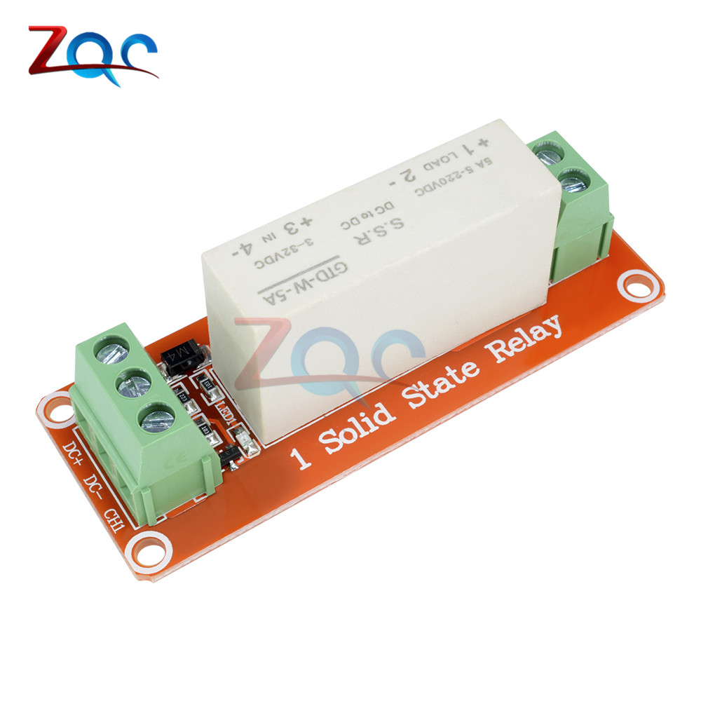 1 Channel SSR Solid State Relay Module High-low Trigger 5A 3-32V For Arduino Uno R3
