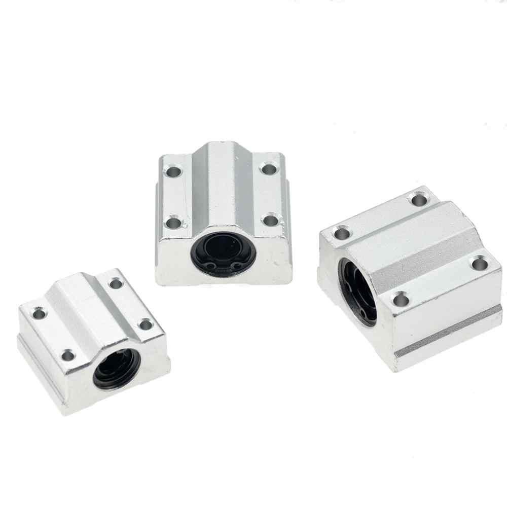 2Pcs Aluminum 8//12//16//20mm Linear Ball Bearing Motion Slide Bushing For CNC C