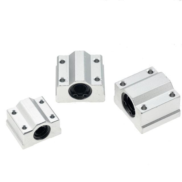 4 unids/lote SC8UU SCS8UU SCS6UU SCS10UU SCS12UU SCS8LUU SCS10LUU SCS16UU 8mm rodamiento lineal de bolas de enrutador CNC 3D piezas de la impresora