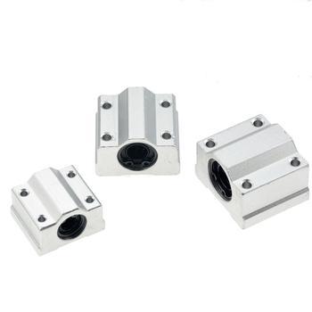 4pcs Linear Motion Ball Bearing Slide Block Bushing SC8UU SCS8UU SC10UU SCS12UU SCS16UU SC20UU Shaft CNC 3D Printer Parts - discount item  10% OFF Hardware