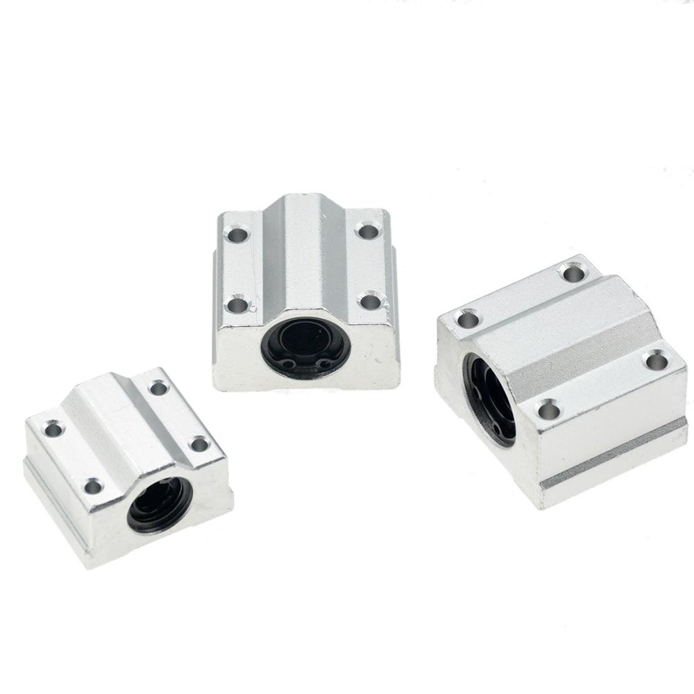 4pcs/lot SC8UU SCS8UU SCS6UU SCS10UU SCS12UU SCS8LUU SCS10LUU SCS16UU 8mm Linear Ball Bearing Block CNC Router 3D Printer Parts