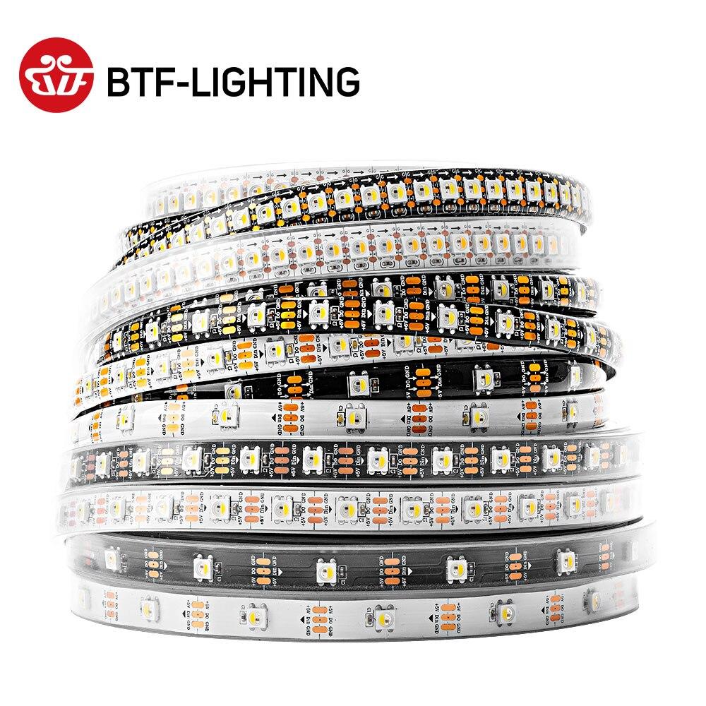 1 M/4 M/5 M SK6812 tira de led (similar ws2812) 30/60/144 leds/m RGBW + NW/CW/WW... IP30/65/67 5050SMD incorporado SK6812... 4in 1 direccionables DC5V