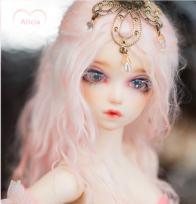 1/4 Bjd doll sd doll 4 points girl Alicia joint doll doll send eyes aifei doll