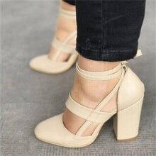 HiHopGirls plus size 35-43 female women shoes woman pumps high heels gladiator Zapatos Mujer ankle strap wedding sapato feminine