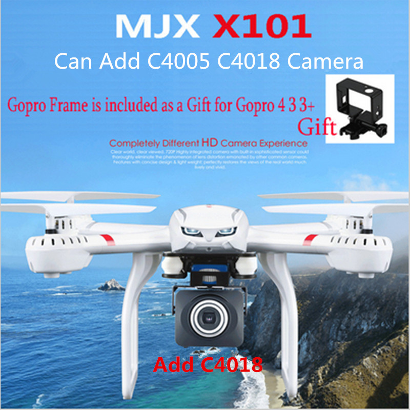 ФОТО Profession Drones MJX X101 Quadcopter 2.4g 6-axis Rc Helicopter Drone with Gimble can Add C4018 FPV Wifi Camera Hd Vs X8c X8G
