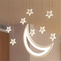 Романтический детская комната Звезда Луна сказка открытый подвесные светильники для кухня исследование Творческий обеденная подвесная ос