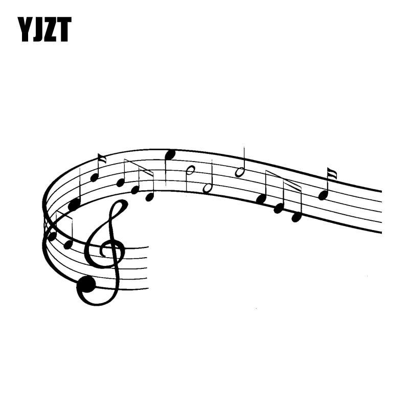 YJZT 17.8CM*8.3CM Wonderful Rock Music Symbol Vinyl Motocycle Car Sticker Decals Black/Silver C13-000617